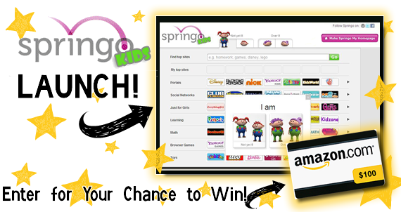 Enter The Springo Kids Contest – $100 Amazon Electronic Gift Card!