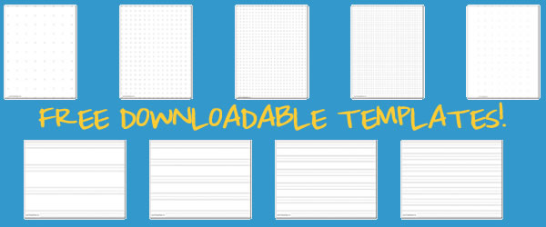 free printable notebook paper template .