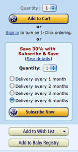 subscribe and save to get discount diapers and wipes
