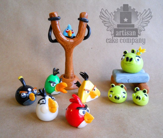 Angry birds cakes cake pops cupcakes and more for Angry birds cake decoration