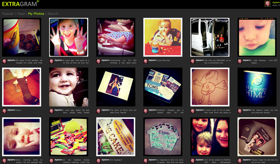 extragram - instagram on the web