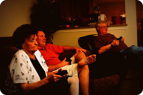 While Grandma might not be surfing the interwebs, she does love her some Tiger Woods Golf on the PS3