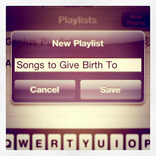 songs to give birth to