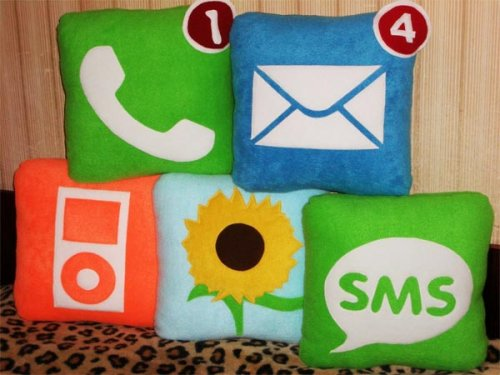 iphone icon pillows