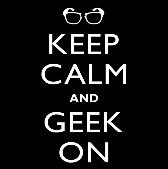 keep calm geek on