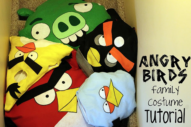 Angry birds costume for kids how to make