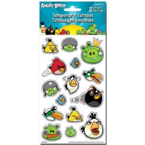 angry birds temp tattoos
