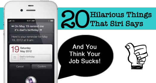 20 hilaroius things that siri says