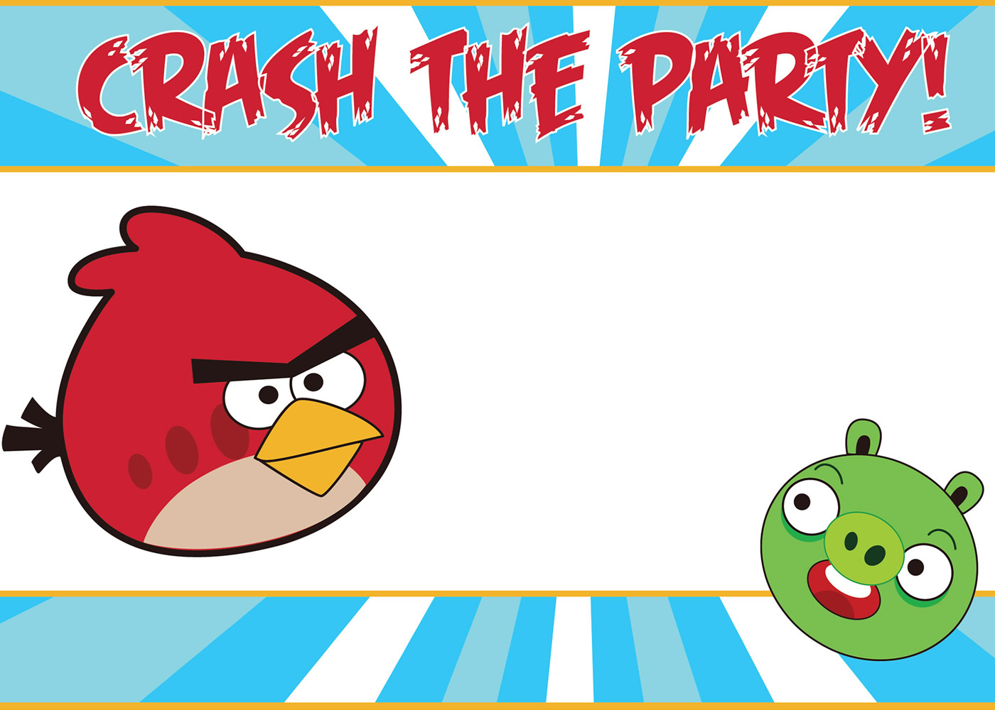 Download your free angry birds invitations for Angry birds birthday party invitation template free