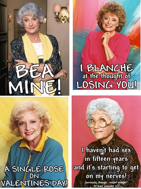 Printable Valentine's Day Cards for Golden Girls Fans