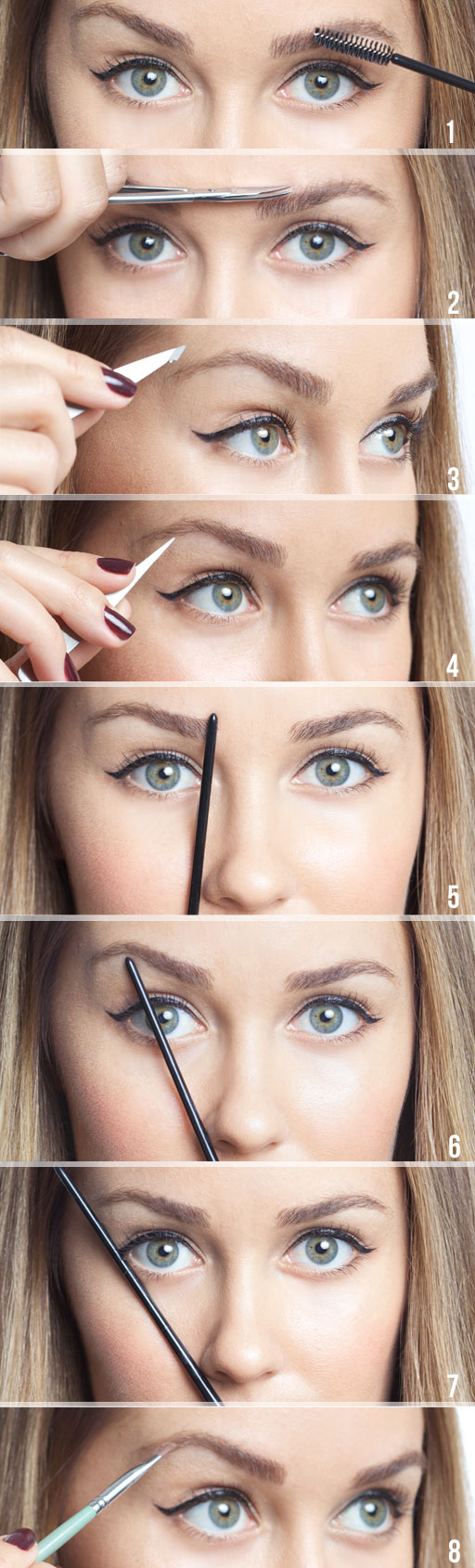 how to tweeze your eyebrows