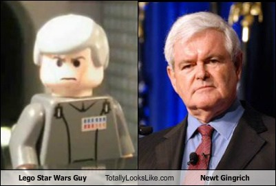 Lego Star Wars Guy and Newt Gingrich are Twins