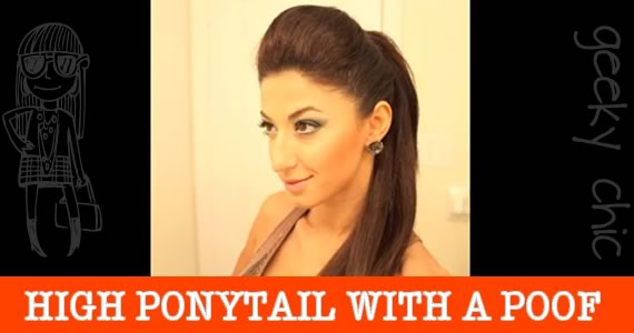Kim Kardashian Look – Poof Ponytail Hair Tutorial