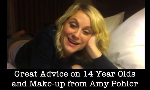 Amy Pohler Gives 14 Year Old Makeup Advice