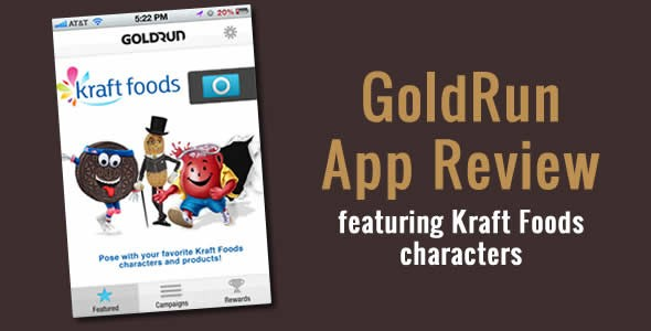 Gold Run App – Augmented Reality Fun With Your Favorite Kraft Icons!