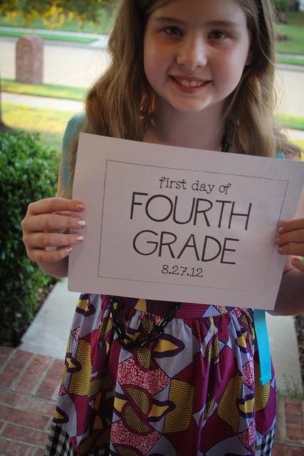 fourth grader