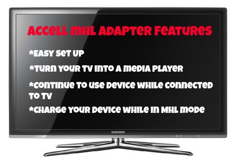 Connect Your Device to Your TV with an MHL Adapter