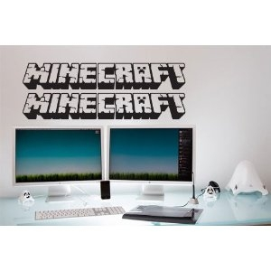 minecraft wall decal