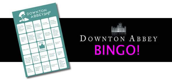 downton abbey addict bingo