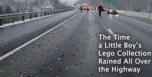 Massive Lego Spill Stops Traffic