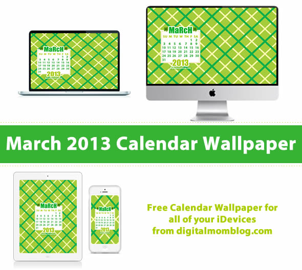 march 2013 calendar wallpaper