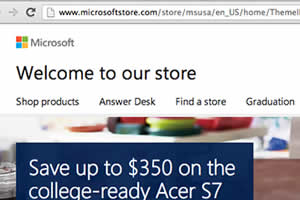 microsoft store credit