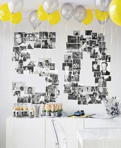 birthday-photo-wall