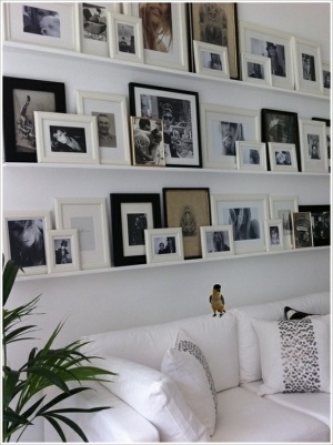 photo wall shelves