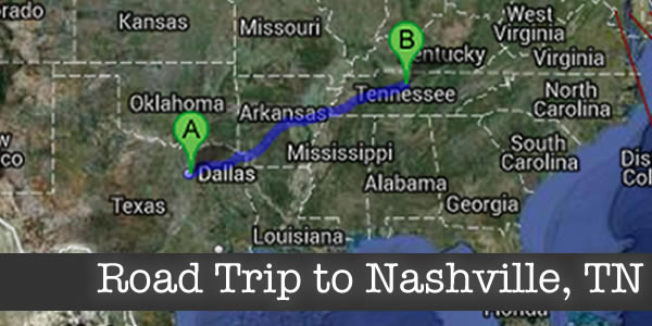 Family Travels to Nashville on a Road Trip