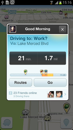 Easy to find routes and accurate estimation times on the Waze App