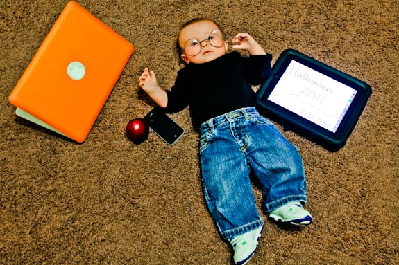 Best Geek Costume - Baby Steve Jobs