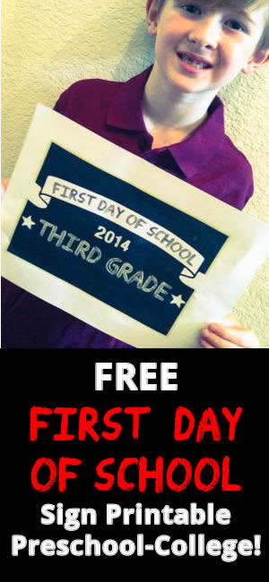 2014 First Day of School Printable Sign – Customized Signs from ...