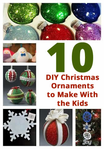 10 Easy DIY Christmas Ornaments to Make With Your Kids