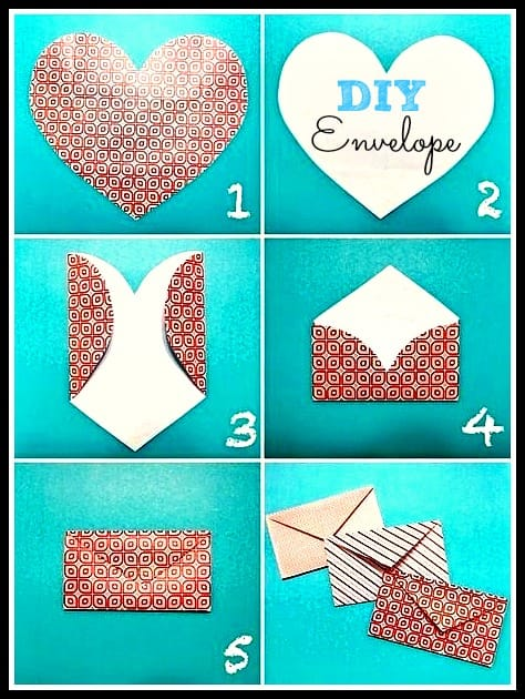 Valentines Day Heart Envelope