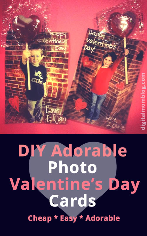 FUN Photo Valentine's Day Card for Kids