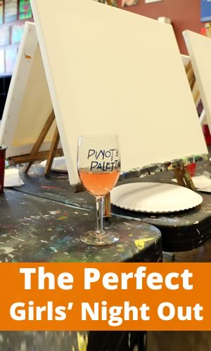 Perfect girls 39 night out paint and wine party for Wine paint party