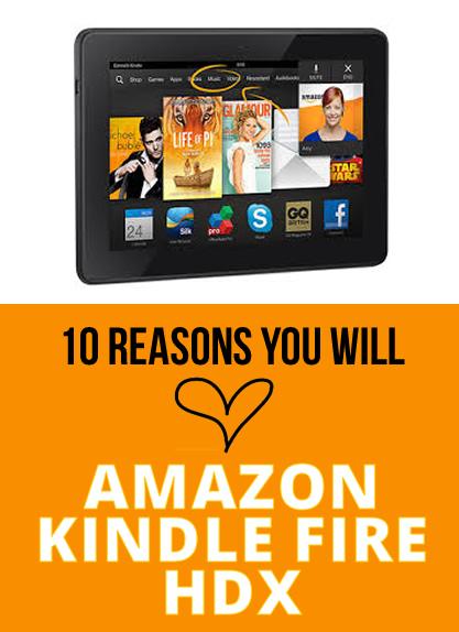 amazon kindle fire hdx tablet