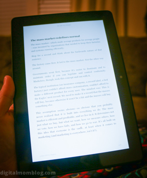 holding the kindle fire hdx