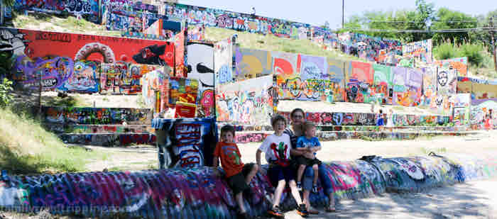 austin graffiti park at castle hill