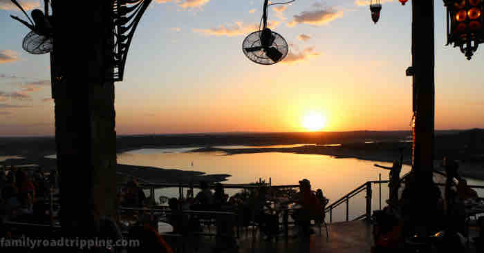 best sunset at oasis lake travis
