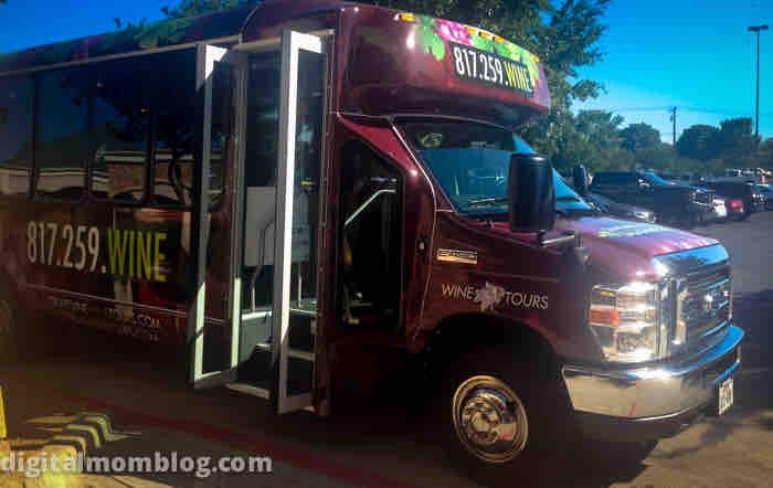 grapevine wine tour bus