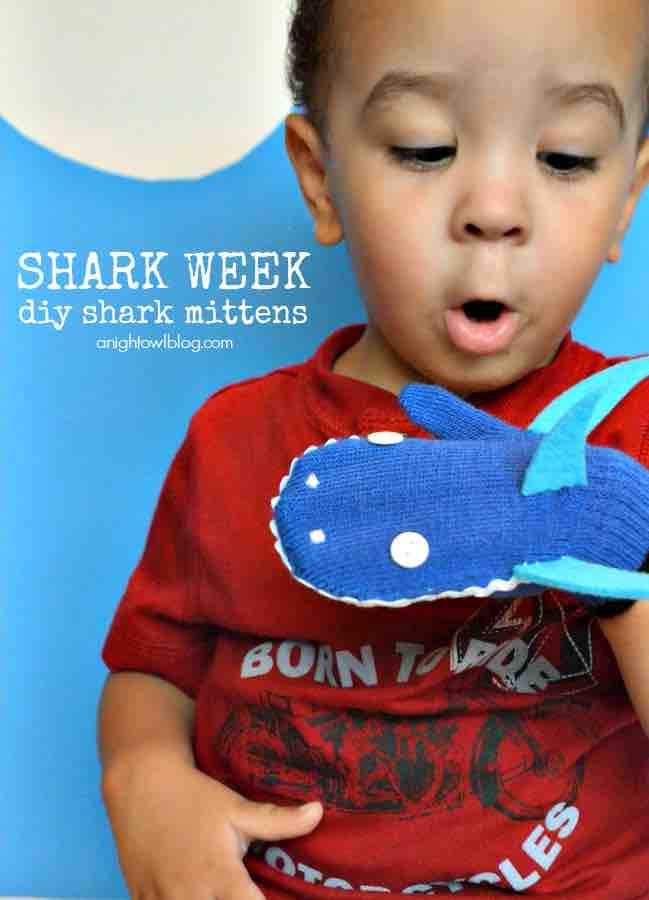 Shark Week Mittens
