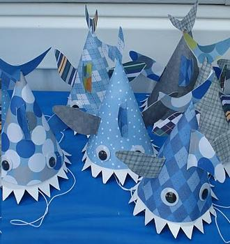 shark hat craft