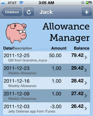 Allowance Manager App