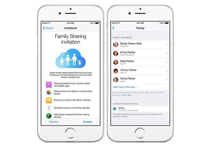 Family Sharing Apps - Apple