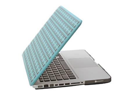 geometric macbook soft case