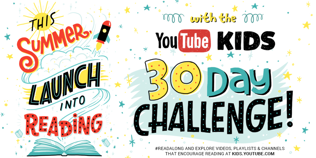 30 Day YouTube Kids Reading Challenge