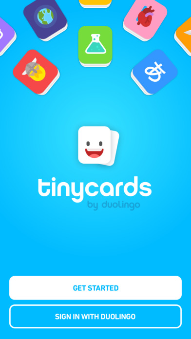 STEM Toys and apps - tinycards app