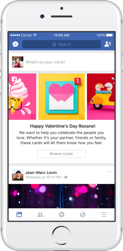 facebook valentines day
